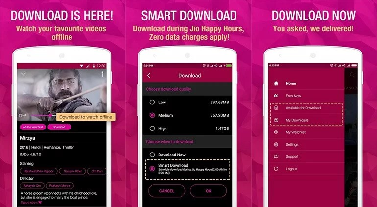 JioCinema now allow Downloading of Movies, TV Shows and