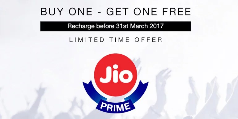 Reliance Jio offers Free Data Add-on on Jio Prime Plans recharge