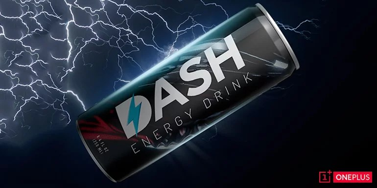 OnePlus Dash Energy drink April Fool