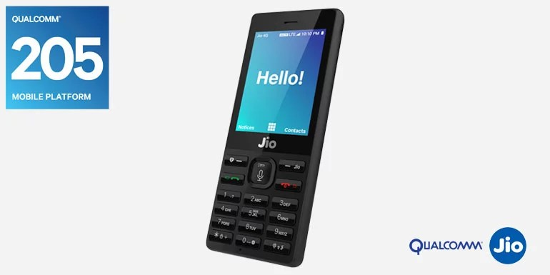 JioPhone to be powered by Qualcomm 205 Mobile Platform