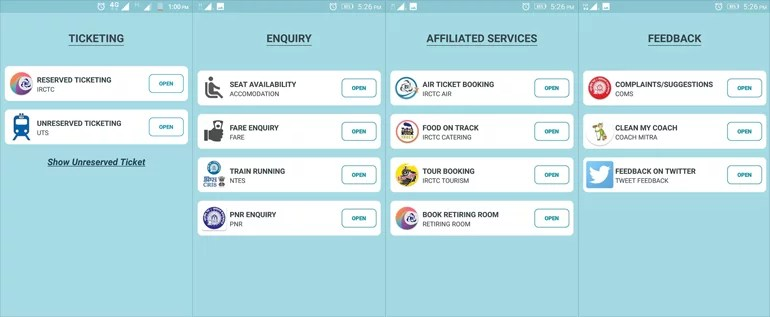 Rail Saarthi - Indian Railways Official Unified Mobile App Is In Fact A Mess
