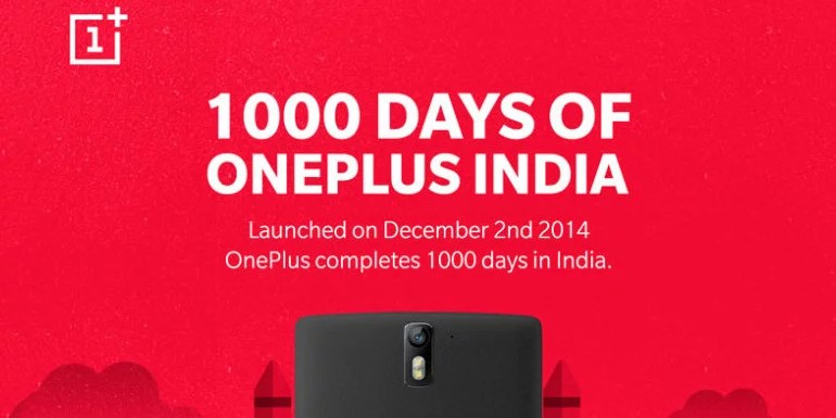 OnePlus completes 1000 days in India – OP5 and OP3T on Discount