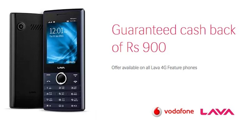 Vodafone India to offer Cash Back on Lava feature phones