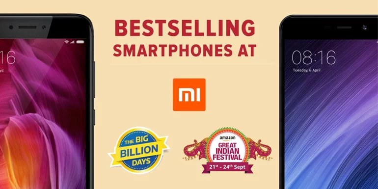 Xiaomi breaks record during the Festive sale at Flipkart and Amazon India