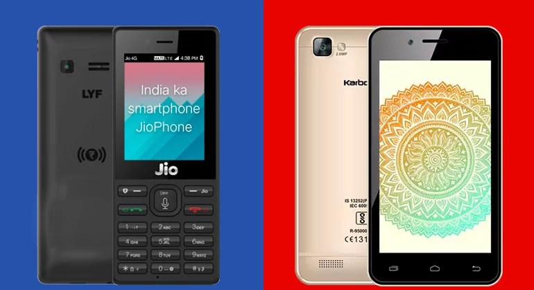 Reliance JioPhone Vs Airtel Karbonn A40 Indian : Which Is Better?