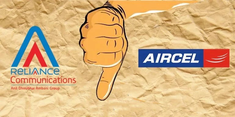 Reliance communications merger with Aircel Collapsed
