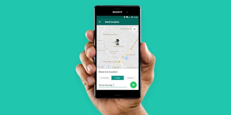 WhatsApp Live Location Share Is Now Available On Android and iOS
