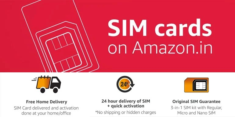 Now buy Indian and International SIM Cards via Amazon India