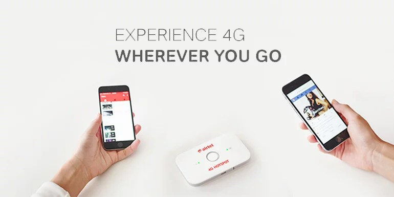 Rent Airtel 4G Hotspot for Rs 399 per month