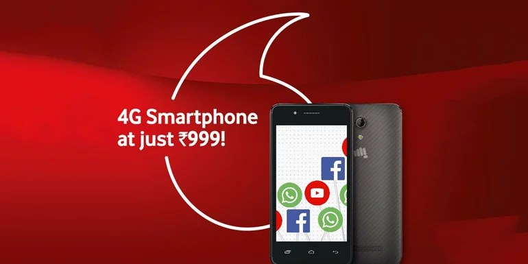 Vodafone India extends its Cashback offer to more Micromax 4G Smartphones