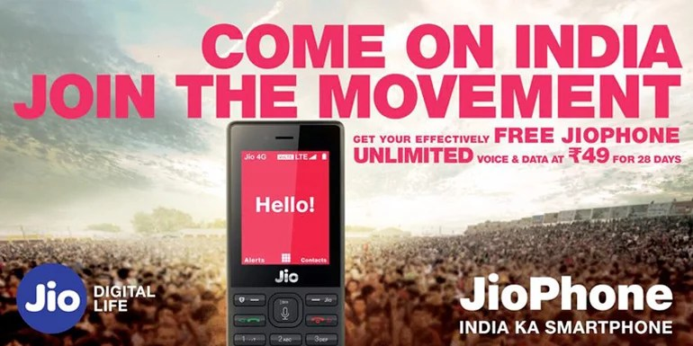 Reliance Jio Launches Rs 49 Unlimited Voice And Data Plan For JioPhone