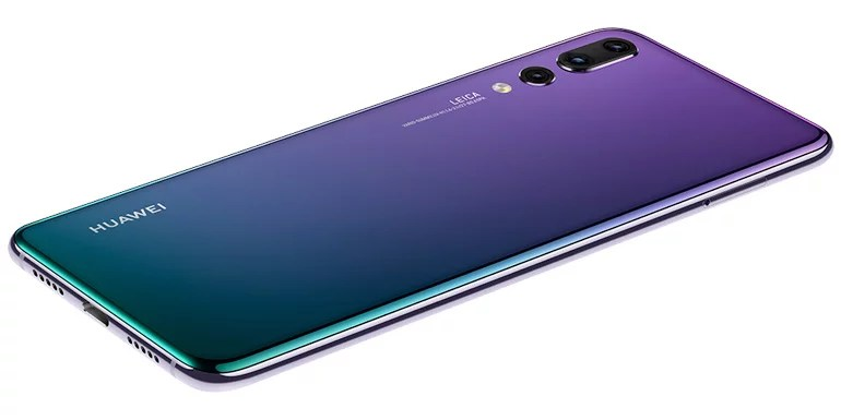 Huawei P20 Pro gradient colour glass body