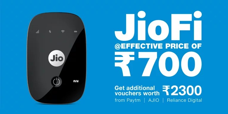 Reliance JioFi Offer