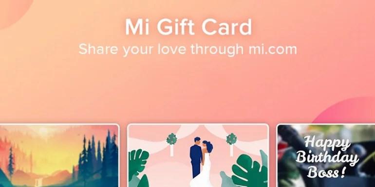 Xiaomi launches Mi Gift Card in India