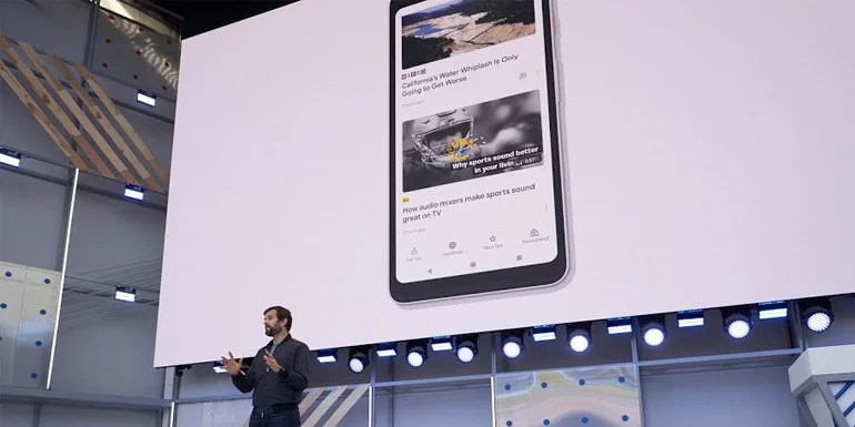Updated Google News on Google IO 2018