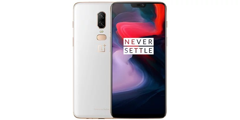 OnePlus 6 Silk White colour variant
