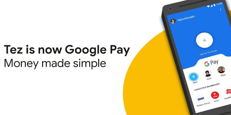 Google Tez will now be called Google Pay
