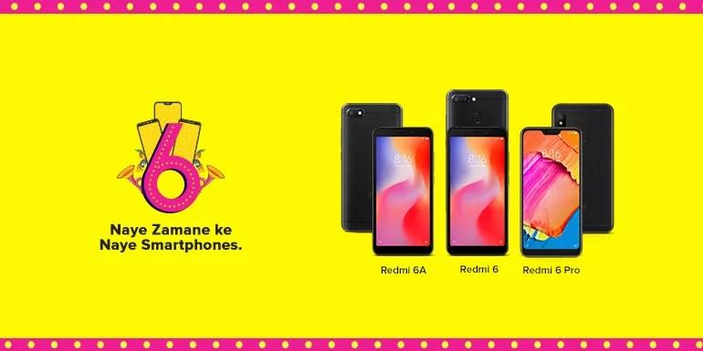 Xiaomi launches Redmi 6A, Redmi 6 and Redmi 6 Pro in India