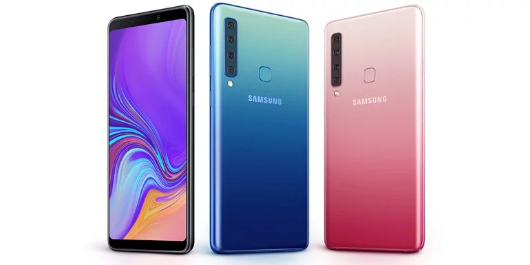 Samsung Galaxy A9 (2018) with quad camera and three colour options