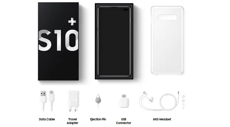 Samsung Galaxy S10, Galaxy S10+ and Galaxy S10e What's in the box