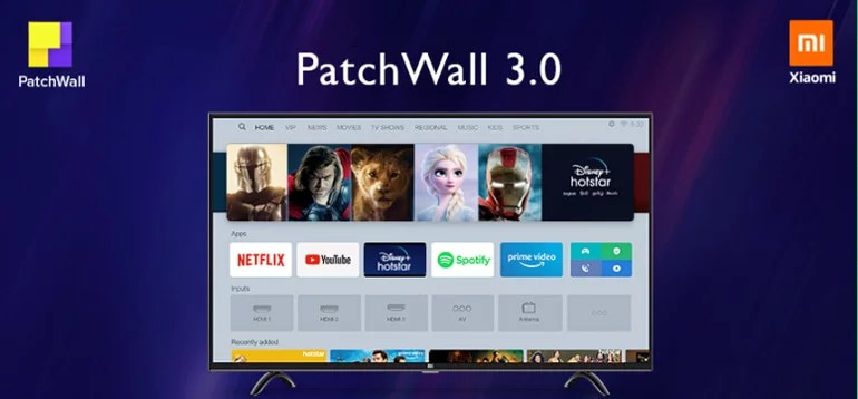 Mi TV get updated to PatchWall 3.0
