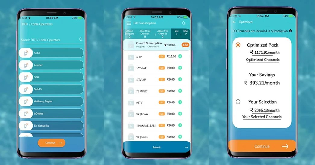 TRAI Channel Selector app - How to view and modify channels