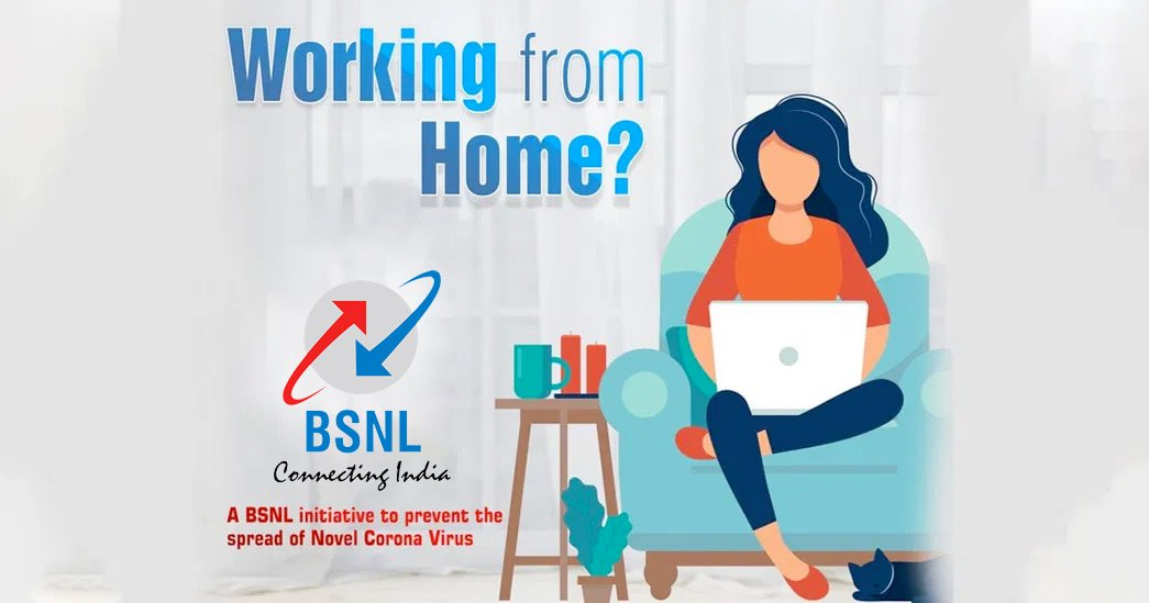 BSNL WFH or Work from Home data plans, broadband plans and STVs