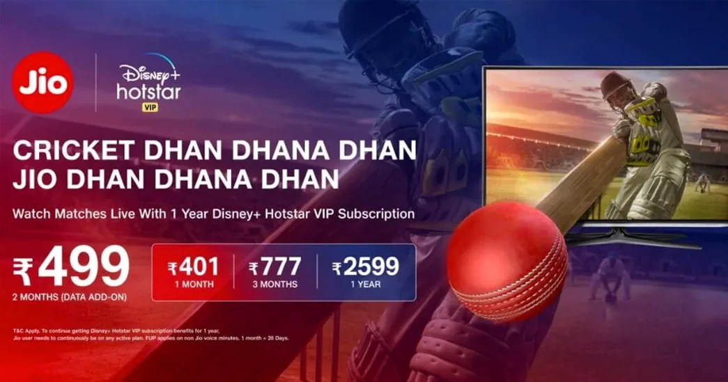 Jio IPL Cricket mobile plans