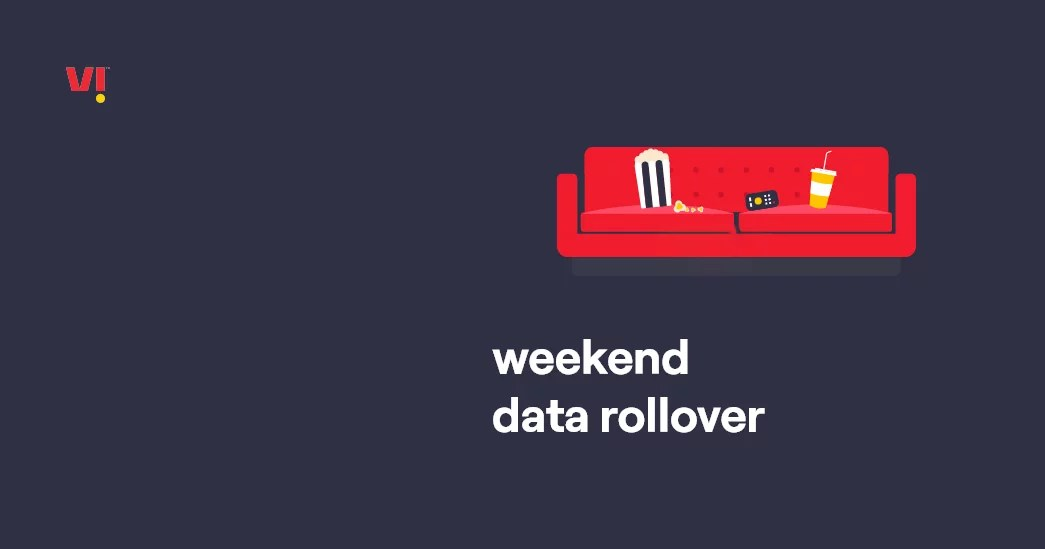 Vodafone Idea Weekend Data Rollover feature