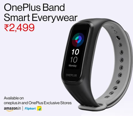 OnePlus Band - Continuous Blood Oxygen Saturation Monitoring, 5ATM / IP68 Water Resistance, Dual-Color Band Design, 14 Days Battery.