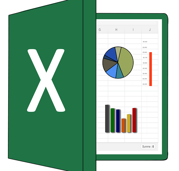 Excel for data science -- box and spreadsheet-- image by Christian Dorn from Pixabay
