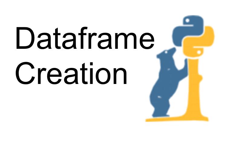dataframe creation