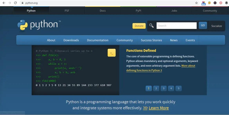 Machine Learning Programming Language -python