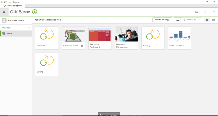 Qlik Sense Tutorial screen shot