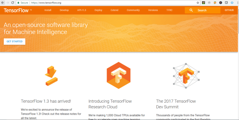 Deep Learning Framework TensorFlow