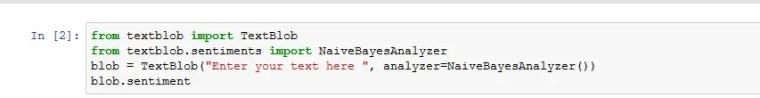 sentiment analysis python code