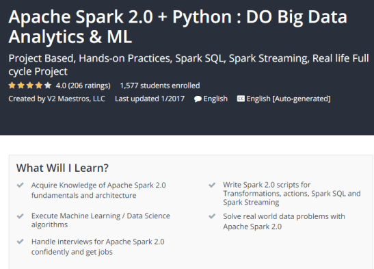 Apache Spark 2 0 Python DO Big Data Analytics ML Udemy.png