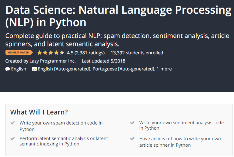 Data Science Natural Language Processing NLP in Python Udemy.png