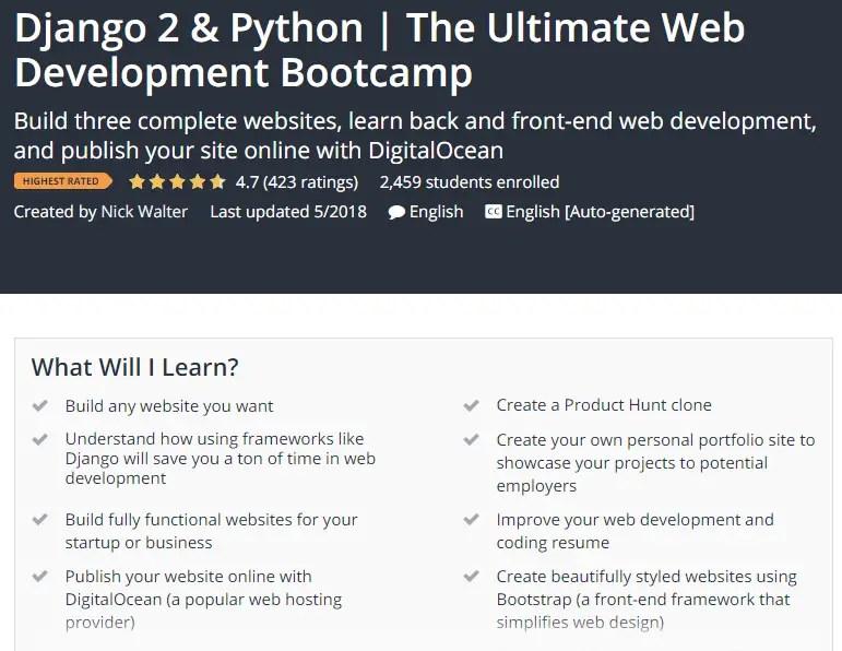 Django 2 Python The Ultimate Web Development Bootcamp Udemy.png