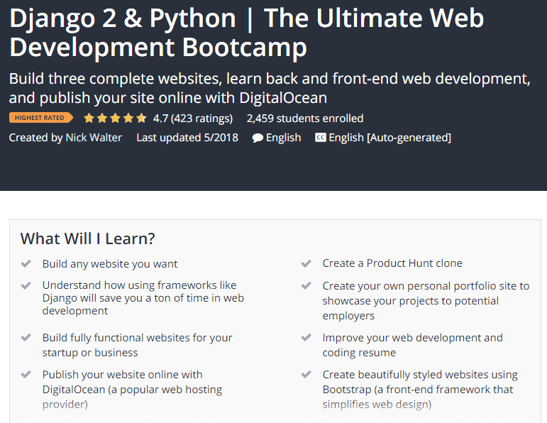 Django 2 Python The Ultimate Web Development Bootcamp Udemy.png