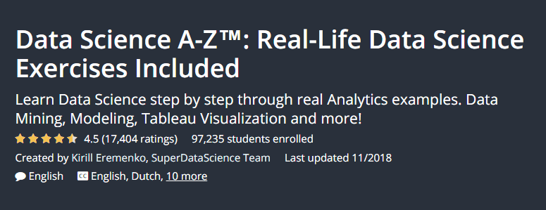 Data Sicence A -Z Real Life Data Science Excercises