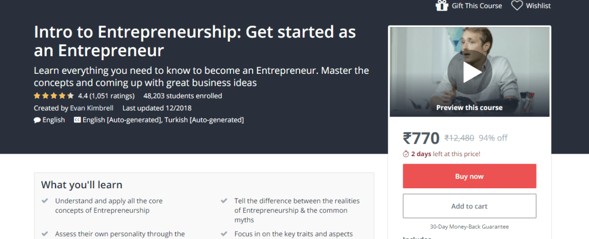 Intro to Entrepreneurship Get started as an Entrepreneur