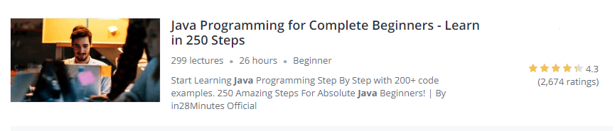 Java Programming for Complete Beginners - Learn in 250 Steps