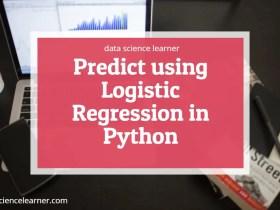 Predict using Logistic Regression in Python