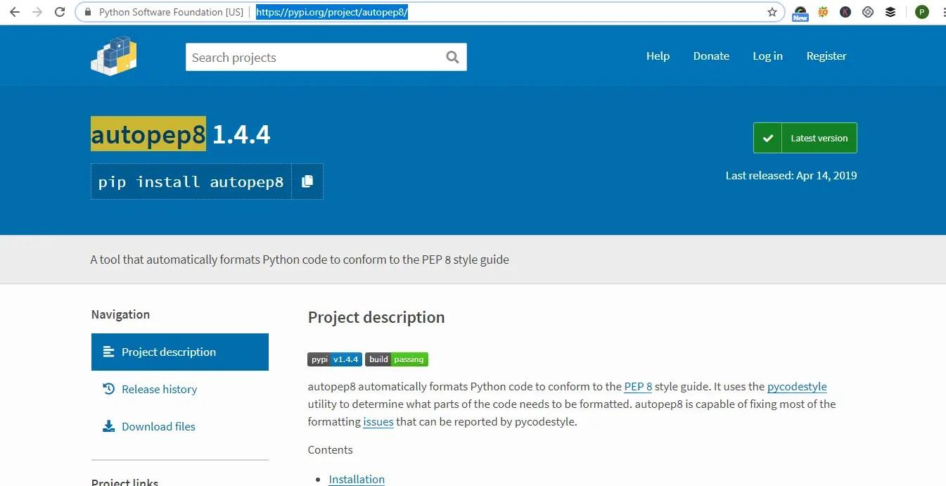 Python code Linters -autopep8