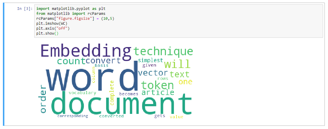 displaying of the wordcloud before enhancing