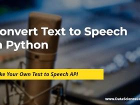 Convert Text to Speech in Python