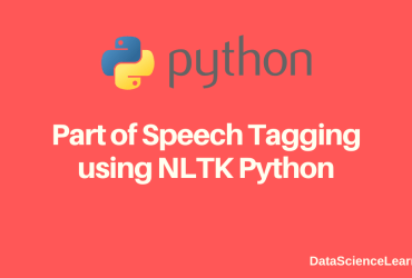 Part of Speech Tagging using NLTK Python