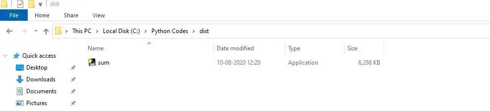Python Script Exe File