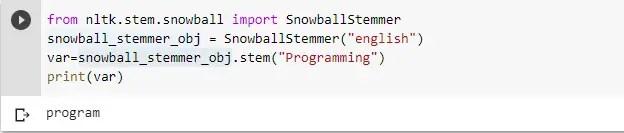 Snowball stemmer Implementation in Python